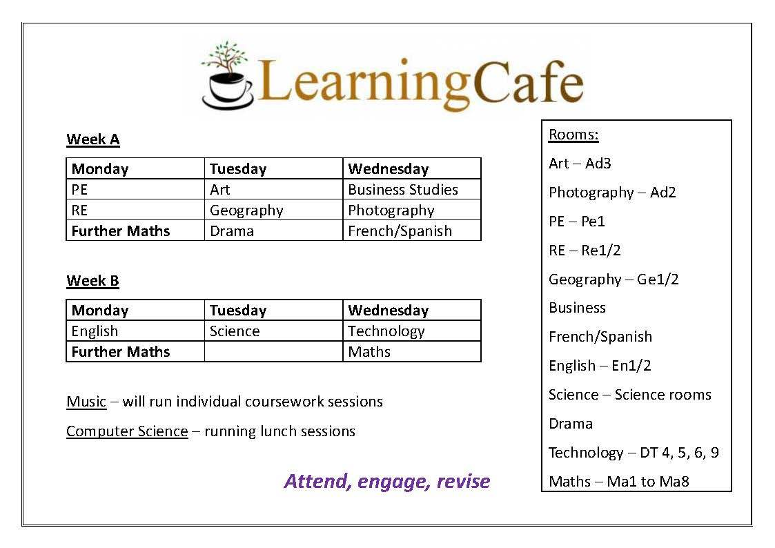 Learning cafe poster