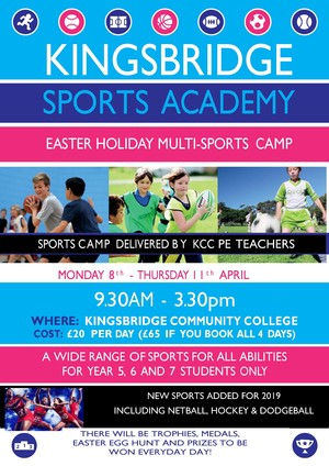 Kcc sports camp easter 2019