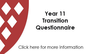 Year 11 Transition Questionnaire