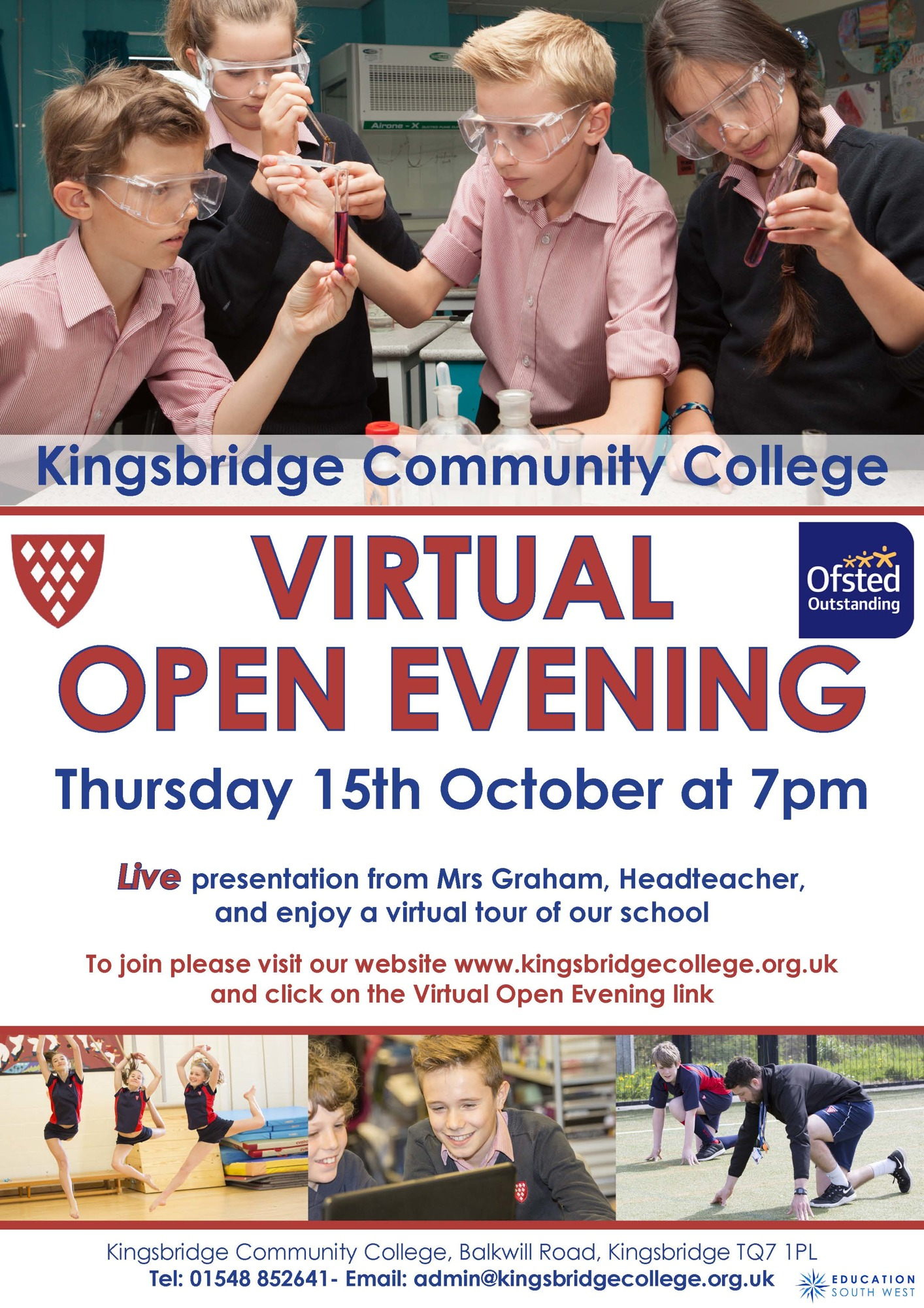 Kcc virtual open day poster sep 20