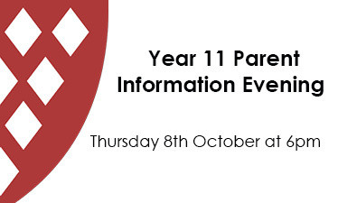 Year 11 Parent Information Evening