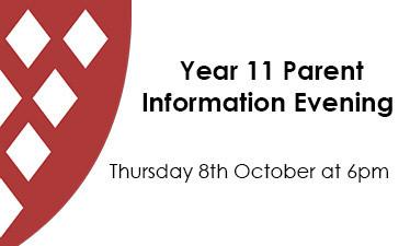 Year 11 Parent Information Evening