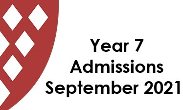 Year 7 Admissions September 2021 Closing Date