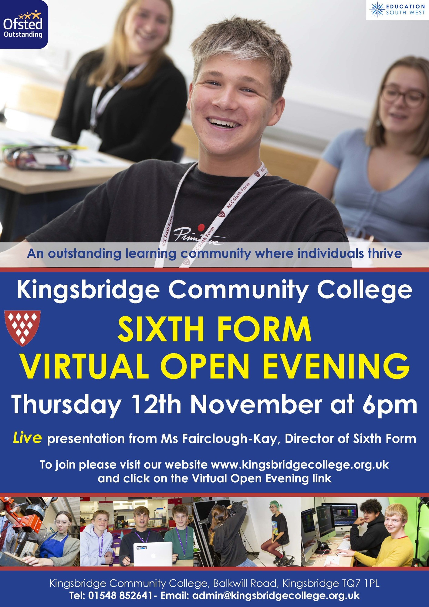 Kcc sixth form virtual open day poster nov 20