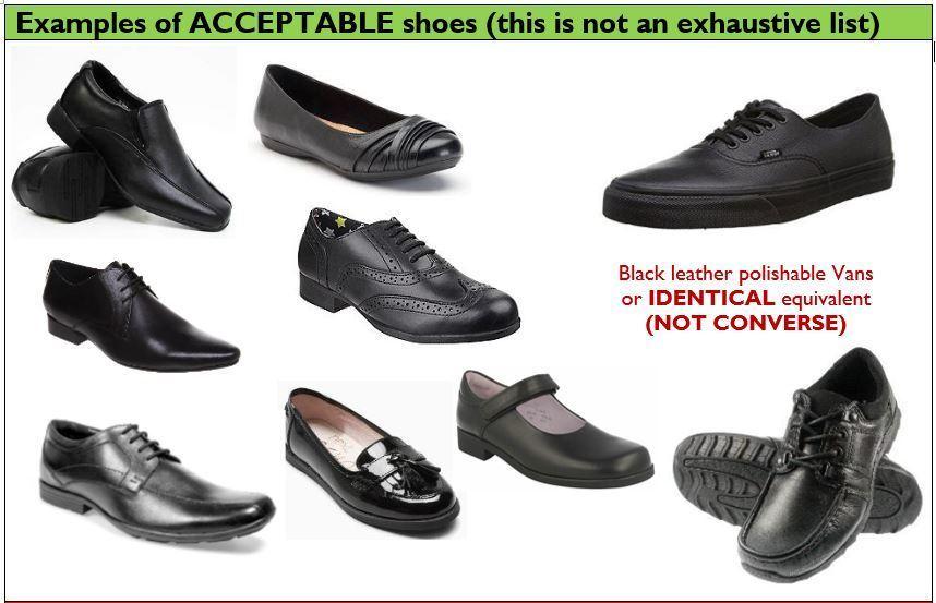Kcc acceptable shoes